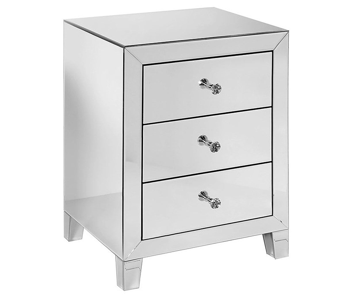 Ava Mirrored Nightstand Jag S Furniture Mattress