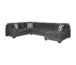 Ballina 3 Piece Sectional - Smoke