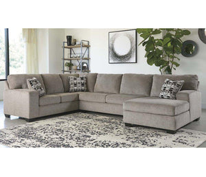 Ballina 3 Piece Sectional - Platinum