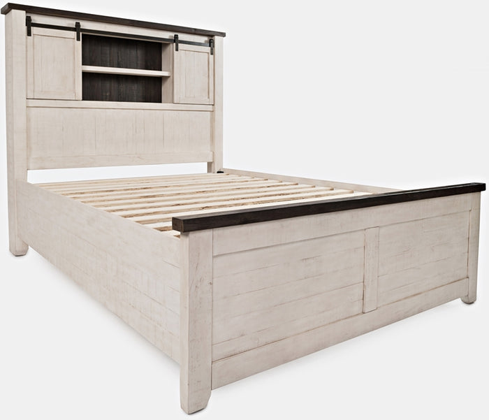 Madison County - Vintage White - Barn Door Bed