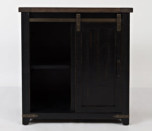 Madison County – Black Charcoal – 32″ Barn Door Accent Cabinet