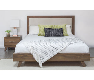 Brandon Upholstered Platform Bed - Caramel