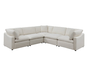 Cloud 9 - 5 Piece Sectional - Ivory