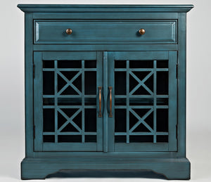 craftsman accent chest antique blue