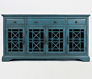 blue closed craftsman media unit