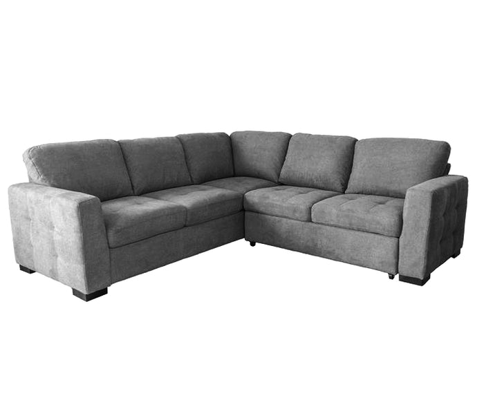 Jax 2 Piece Sectional w/ Sleeper - Dark Metal Grey