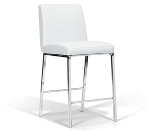 Lamar Counter Stool - White