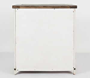 "Madison County - Vintage White - 32"" Barn Door Accent Cabinet"
