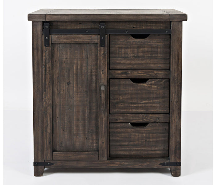 Madison County - Charcoal - 32″ Barn Door Accent Cabinet