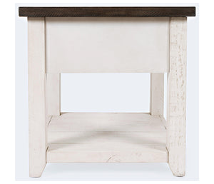 Madison County Harris - Vintage White - End Table