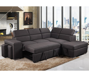 Pamina 3 Piece Sectional w/ Sleeper