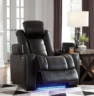 Party Time Chair - Power Reclining w/ Power Headrest - Black