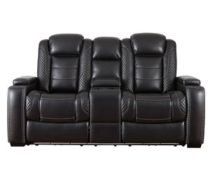 Party Time Loveseat - Power Reclining w/ Power Headrests