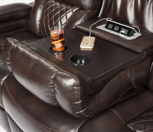 Warnerton - Power Reclining Sofa w/ Power Headrests