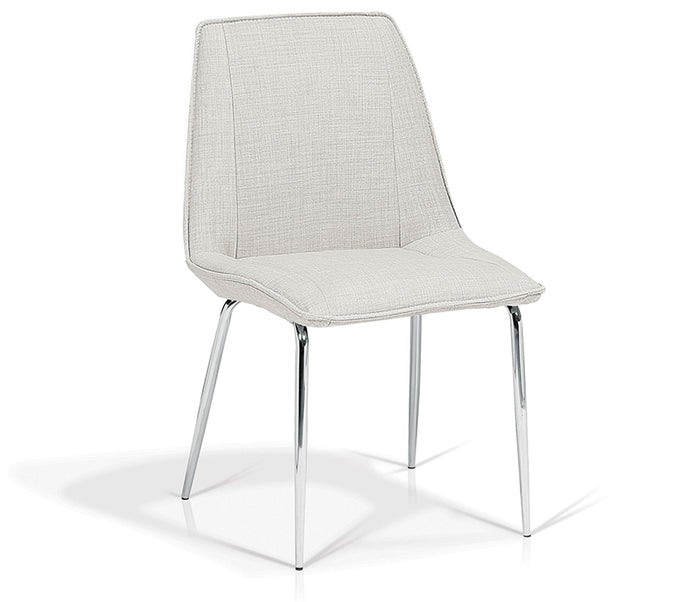 Zen Side Chair - Pebble Fabric