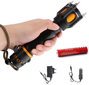 Self Defense Flashlight with Alarm Cap!