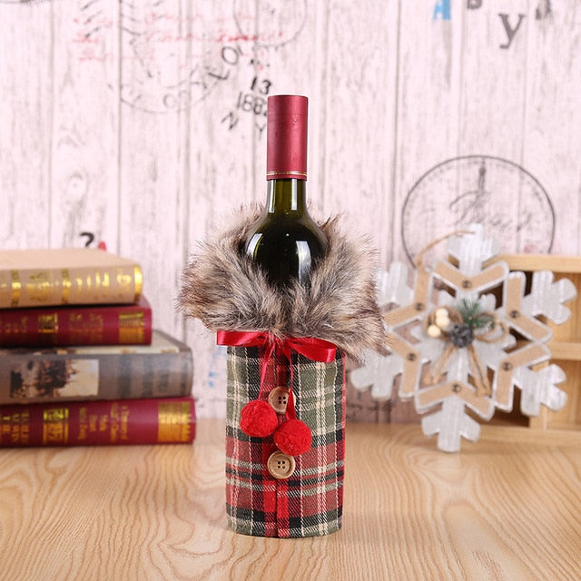 Santa Claus Wine Bottle Christmas Covers