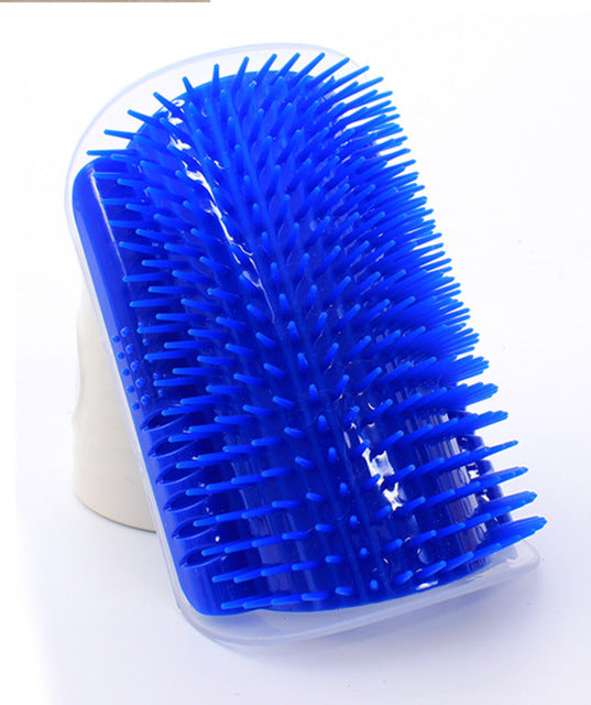 Cat Corner Scratcher & Shedding Brush