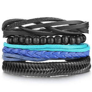 leather wrap teen bracelets