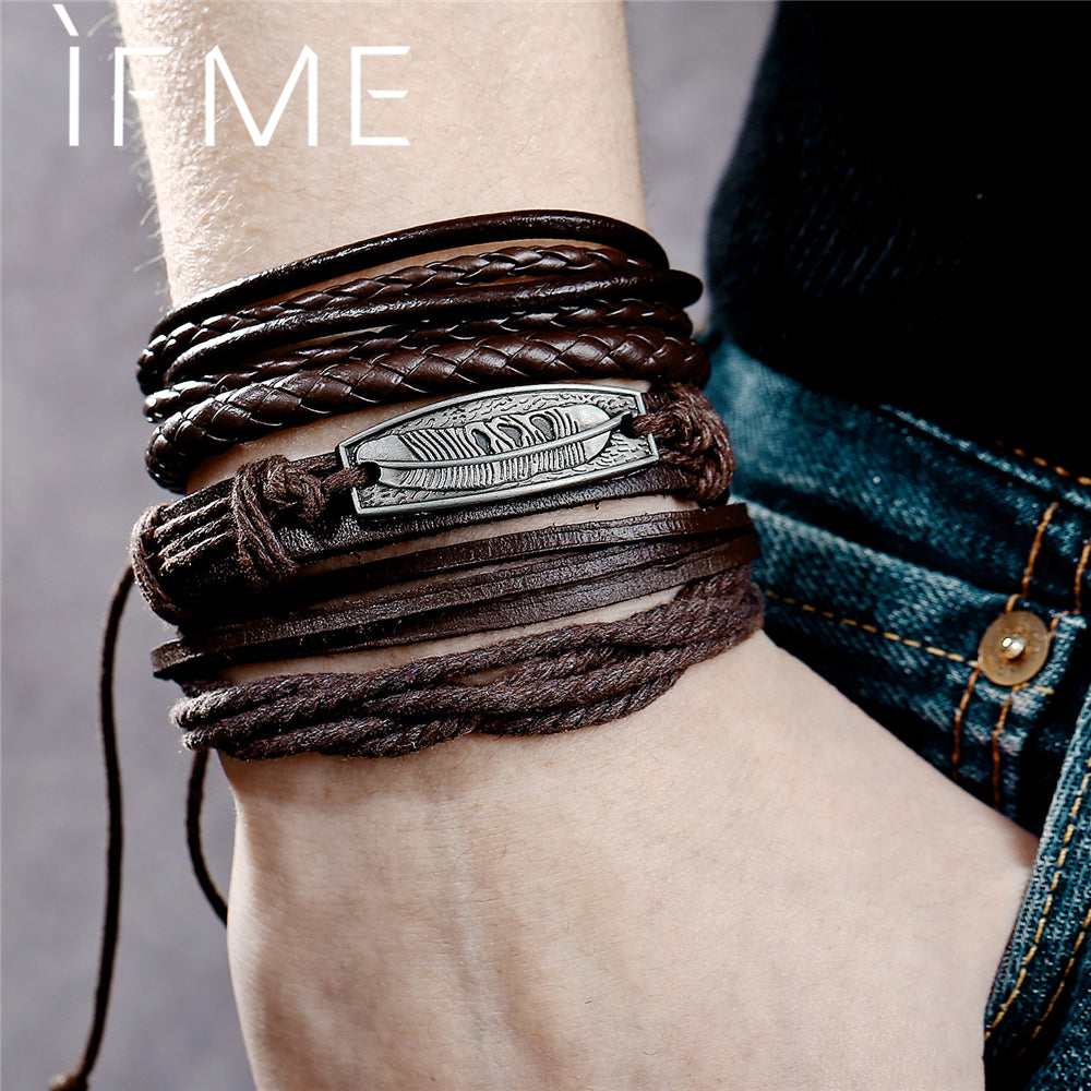 Leather Bracelets For Men & Women