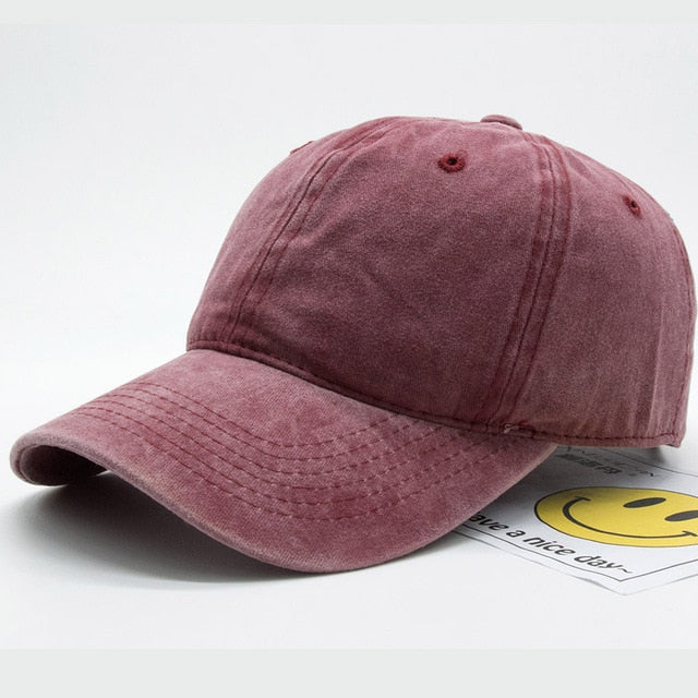 cotton baseball caps for her
