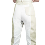 Two-Tone Biker Trousers