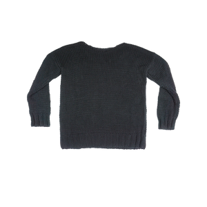 Distressed Heavy Knit Pullover