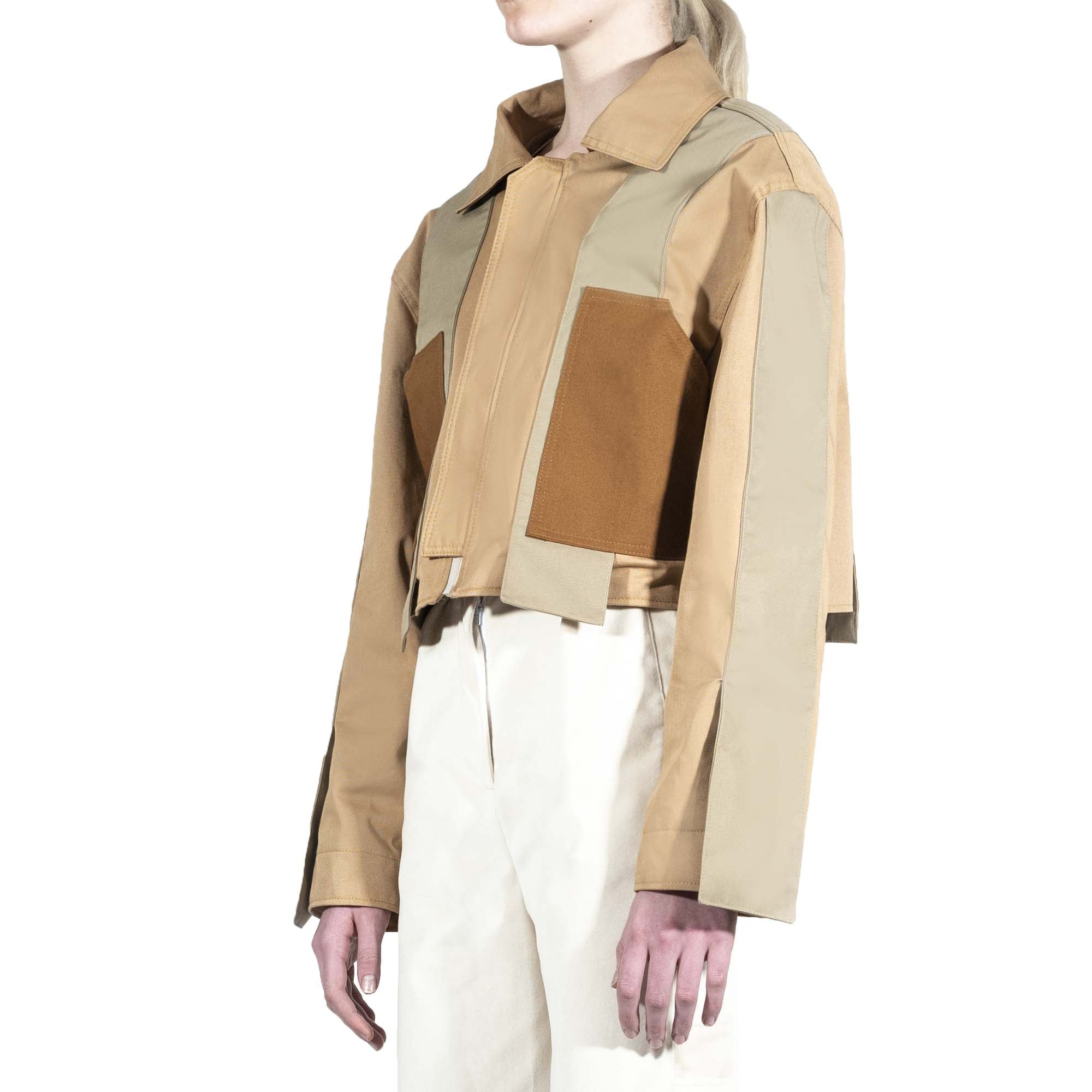 Short Layered Aviator Jacket