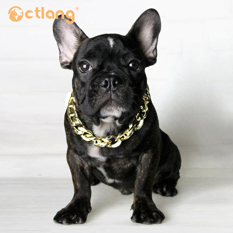 Strong Silver Gold Stainless Steel Slip Dog Collar Metal Dogs Training Choke Chain Collars for Large Dogs Pitbull Bulldog