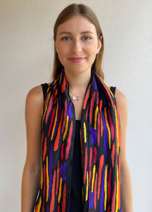 Aerial Striation Silk Scarf
