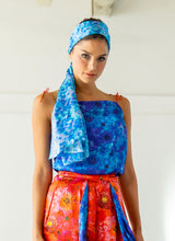 Load image into Gallery viewer, Anarchic Azure Silk Scarf