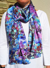 Load image into Gallery viewer, Blossom Kaleidoscope Silk Scarf