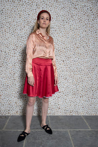 REVERSIBLE Melissa Short Velvet Skirt