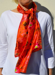 Coral Reef Satin Scarf