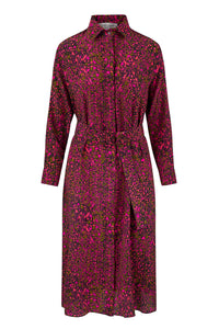 Esme Silk Shirt Dress - Dappled Bloom