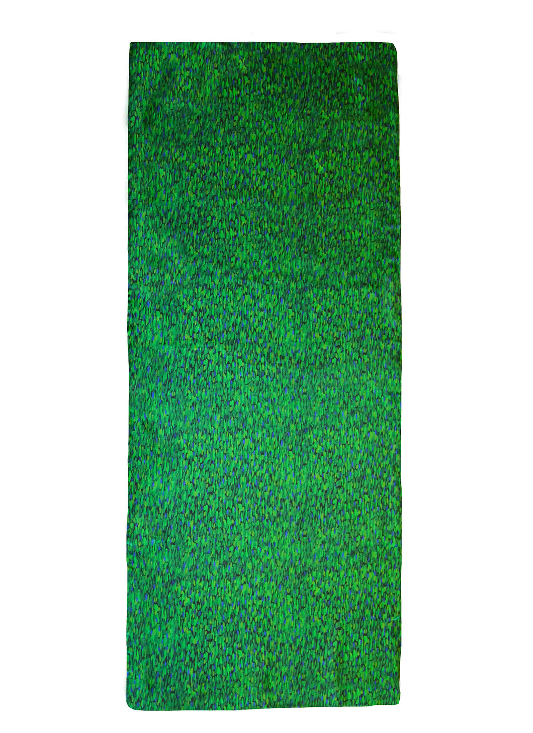 Flecked Emerald Silk Scarf