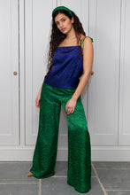 Load image into Gallery viewer, REVERSIBLE Freya Top - Flecked Sapphire/Flecked Emerald