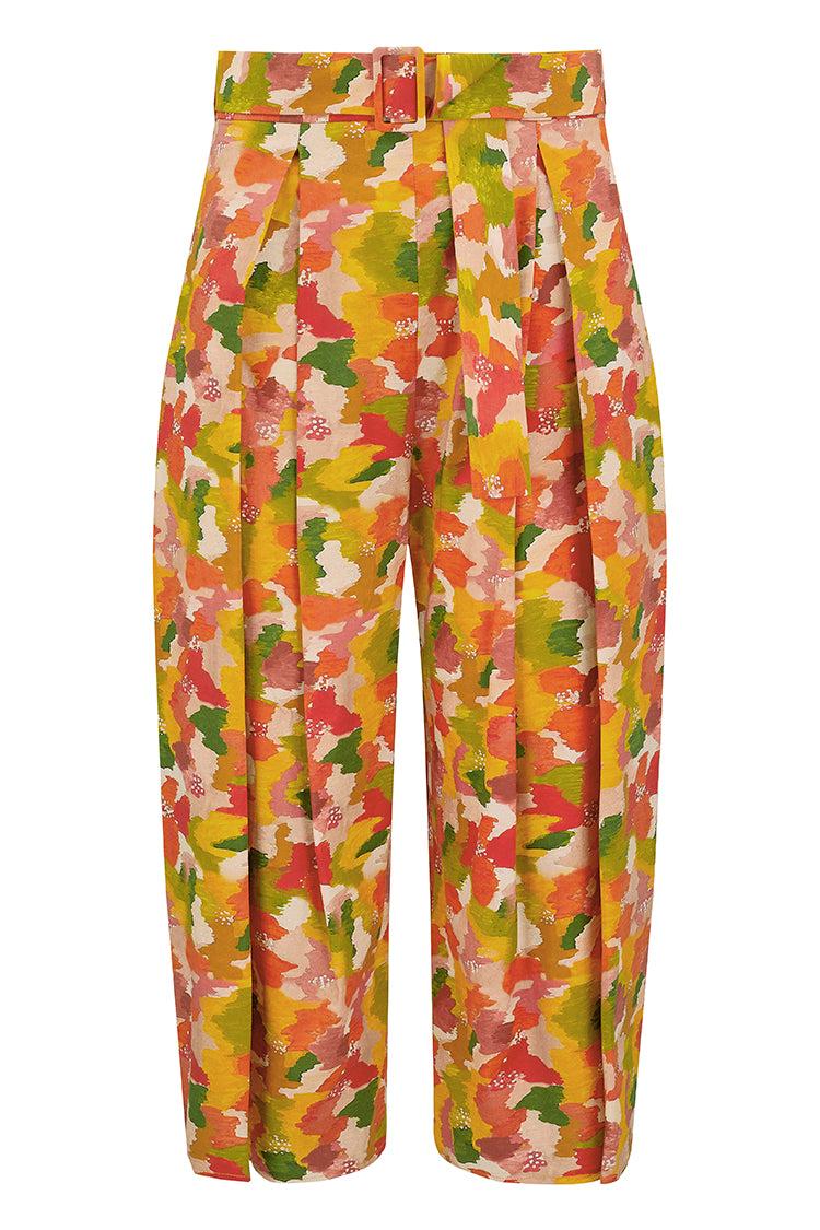 Matilda Cotton Culotte Trousers - Multi Marinace