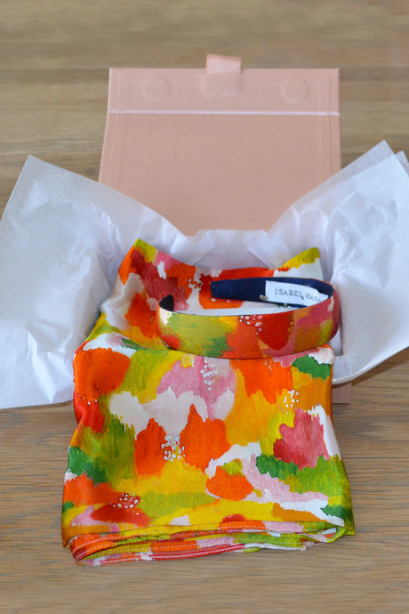 Multi Marinace Scarf & Headband Small Gift Box