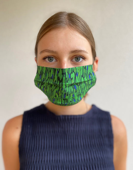 Flecked Emerald Adjustable Cotton Mask