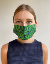 Load image into Gallery viewer, Flecked Emerald Mask & Headband Small Gift Box