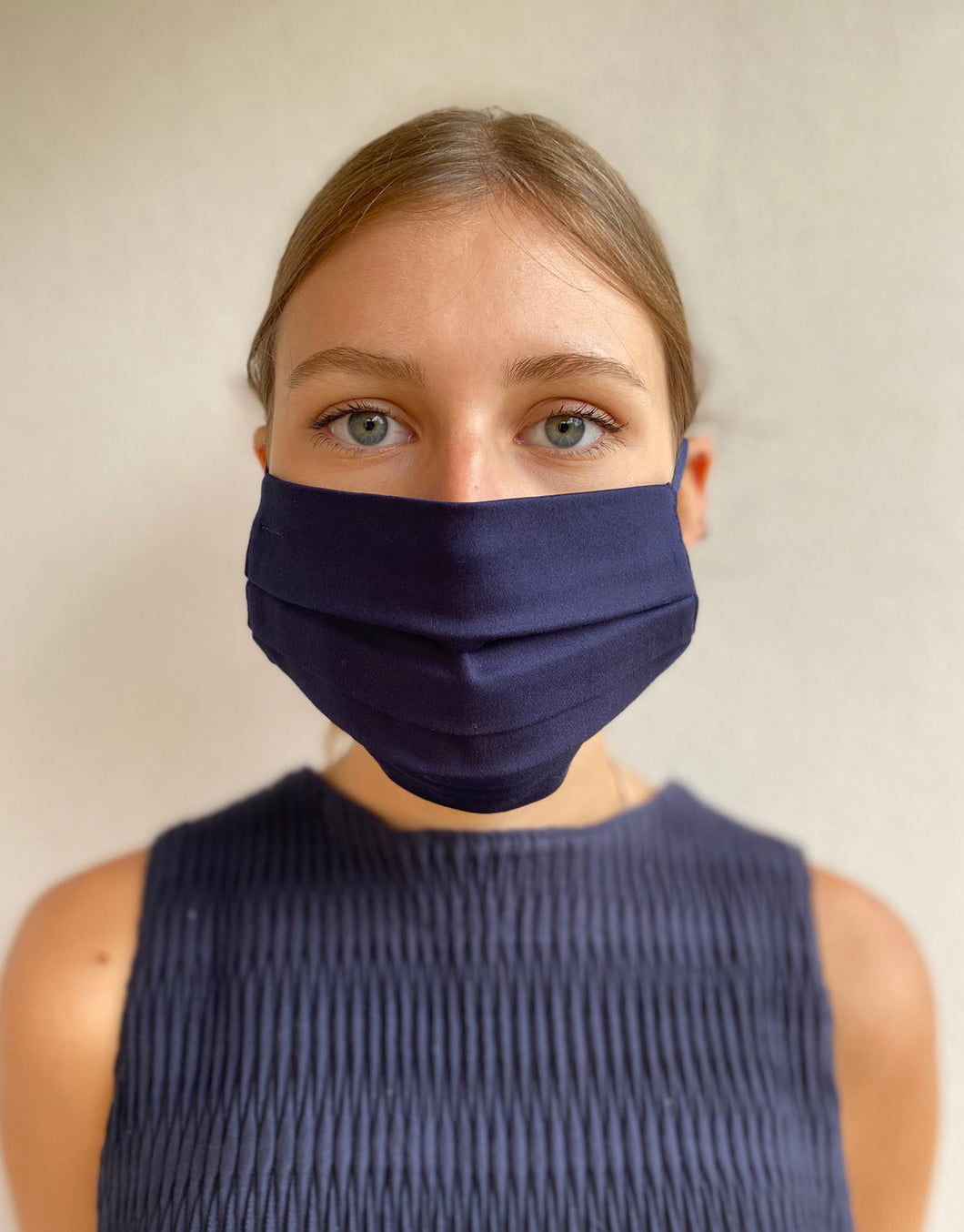 Navy Adjustable Cotton Mask