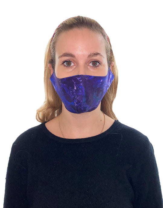 Ocean Water Adjustable Cotton Fitted Mask