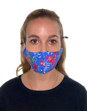 Load image into Gallery viewer, Mandevilla Vine Adjustable Cotton Fitted Mask