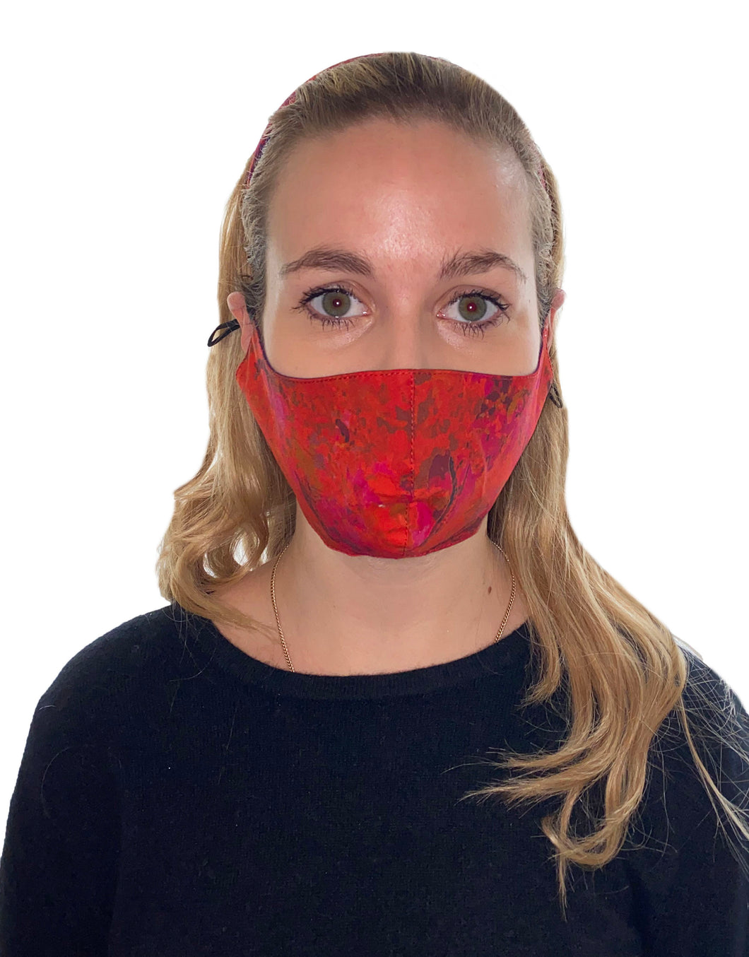 REVERSIBLE Sunset Meadow/Ocean Water Fitted Mask