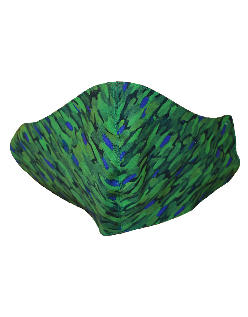 Flecked Emerald Adjustable Cotton Fitted Mask