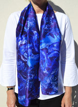 Load image into Gallery viewer, Ocean Water Silk Scarf