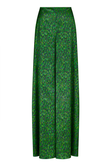REVERSIBLE Fern Palazzo Pants - Fleckled Emerald/Emerald