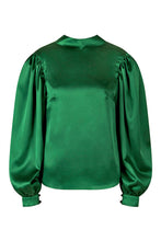 Load image into Gallery viewer, REVERSIBLE Kelly Top -Fleckled Emerald/Emerald