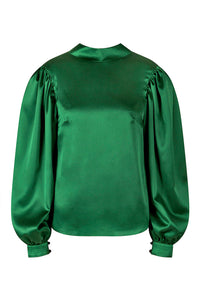 REVERSIBLE Kelly Top -Fleckled Emerald/Emerald